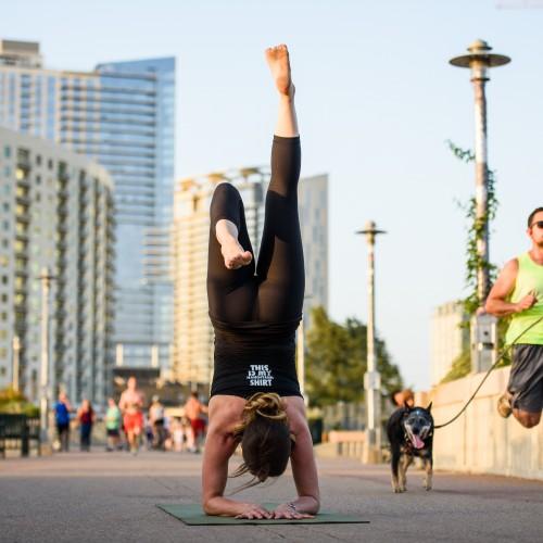 Rocket Yoga with Shanna (Lamar Pedestrian Bridge)