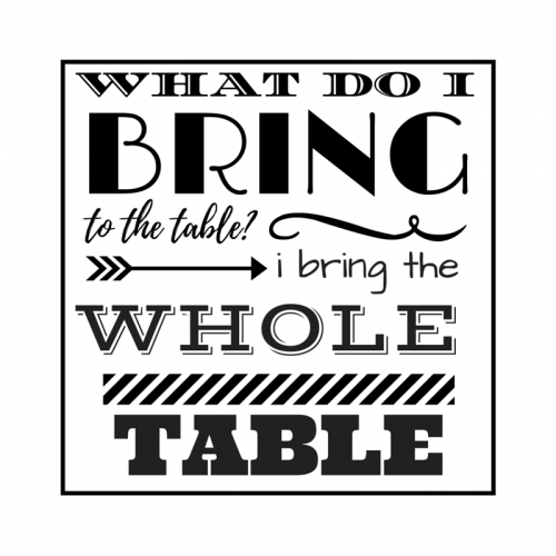 What do I bring to the table?